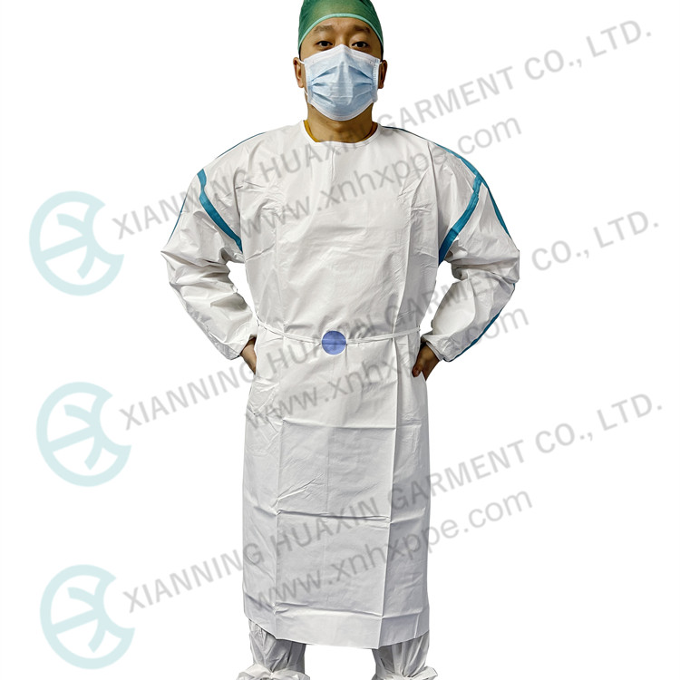 SF microporous AAMI PB70 level 3 non medical isolation gown Factory