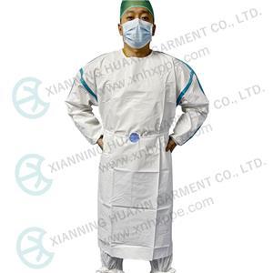 Camice di isolamento non medico AAMI PB70 livello 3 microporoso SF