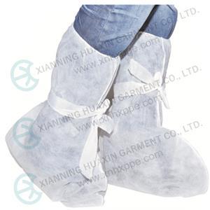 أحذية عالية بيضاء من البولي بروبلين للمختبر