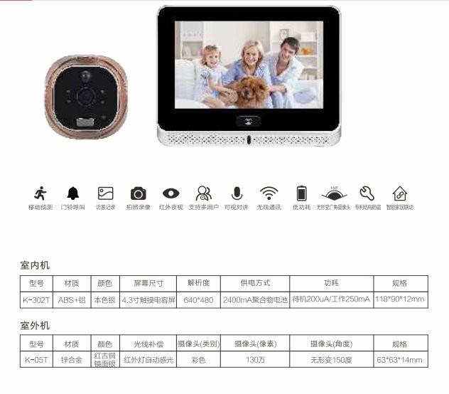 Smart Home APP WiFi Door Viewer