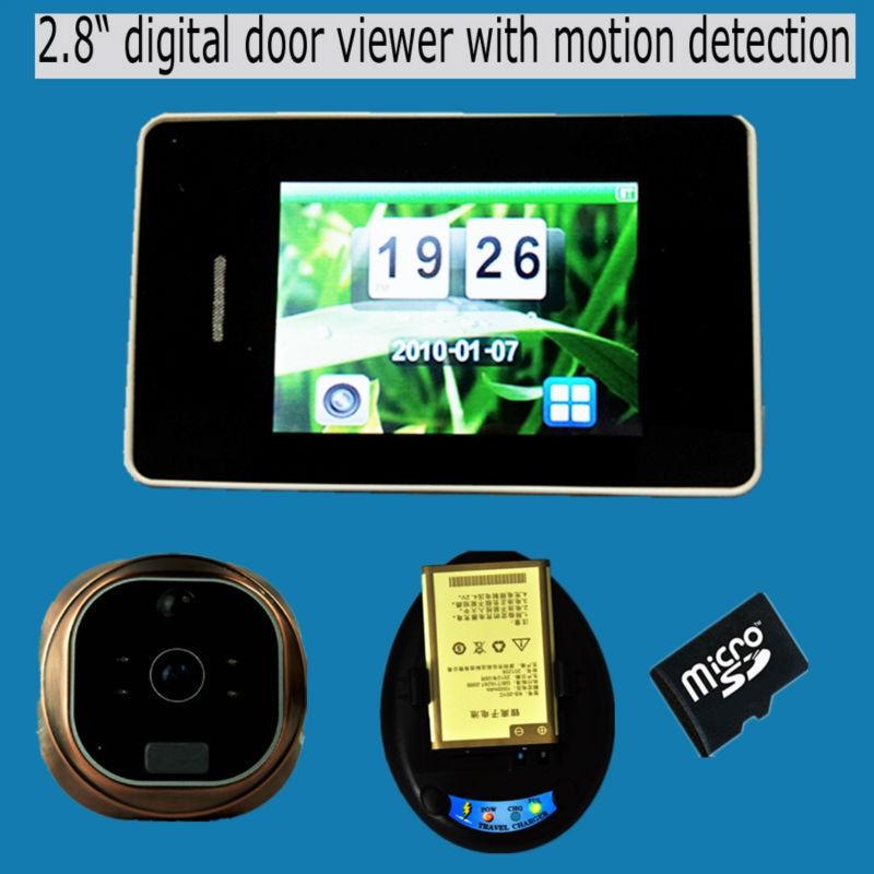 Visor de video de 4,3 pulgadas con sensor de movimiento
