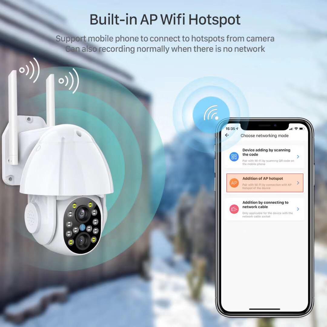 Pan & Tilt Wi-fi Dome Kamera