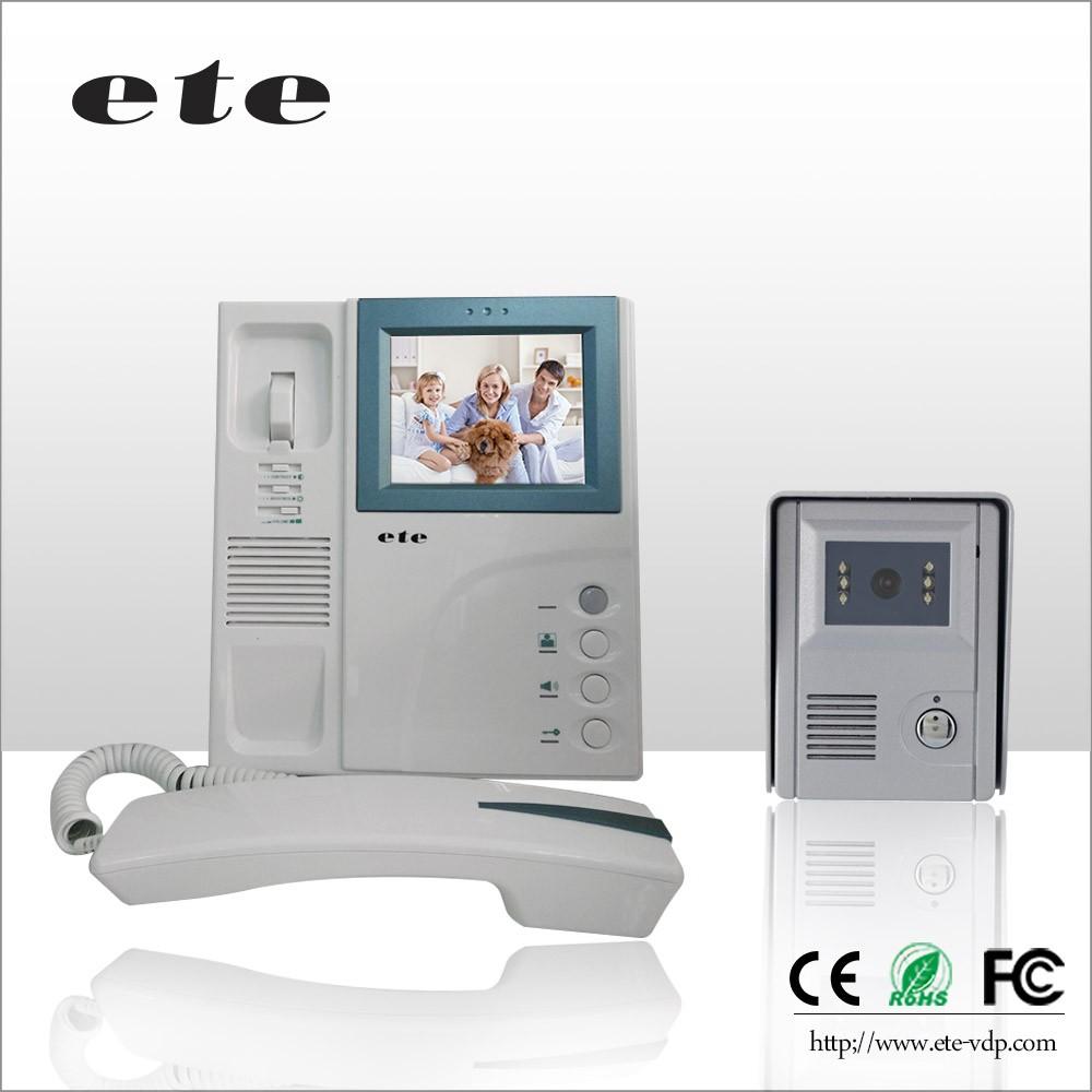 Téléphone visuel de porte OEM IP avec combiné