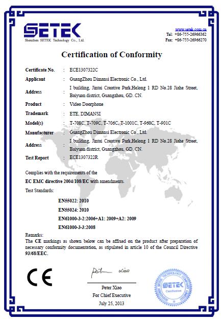 Certificado CE RoHS FCC aprobado