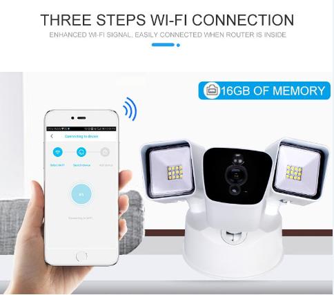 Akıllı Wi-fi Işıklandırmalı Video Kamera