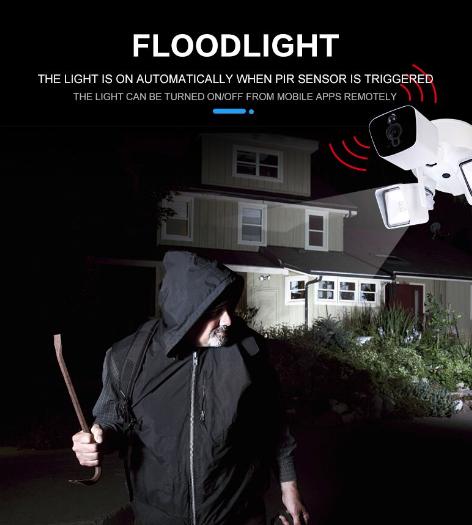 PIR Hareket Algılama Wi-fi Işıklandırmalı Video Kamera