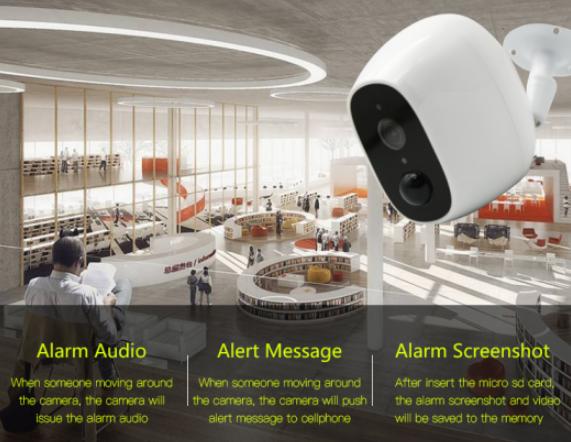 Hava koşullarına dayanıklı Wi-fi IP Kamera