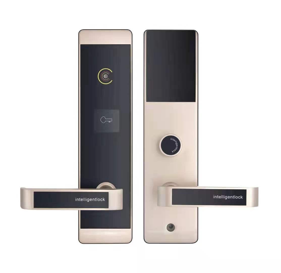 Système de serrure de porte d'hôtel de conception unique en alliage de zinc Super mince