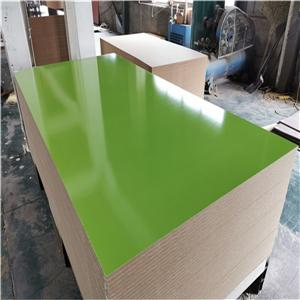 high glossy solid color melamine MDF board