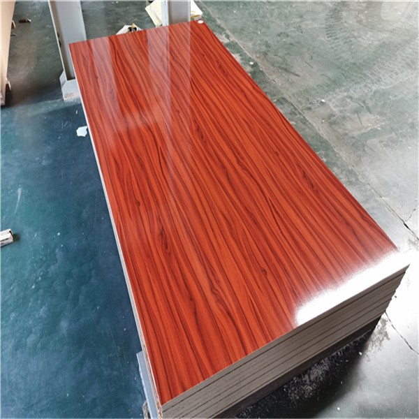 high glossy wood grain color melamine MDF board