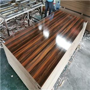 high glossy wood grain melamine MDF board