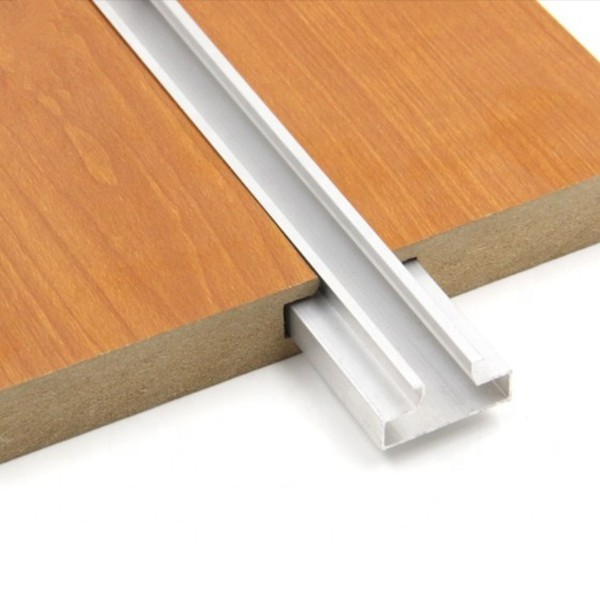 slotted MDF board with groove