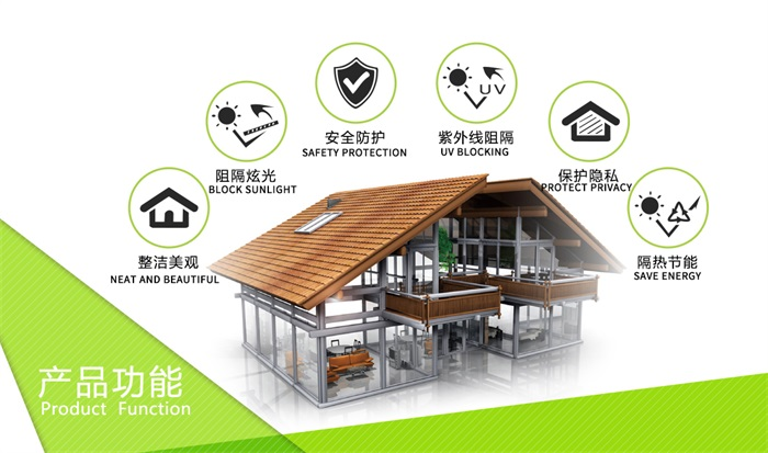 explosion-proof privacy protection building window film