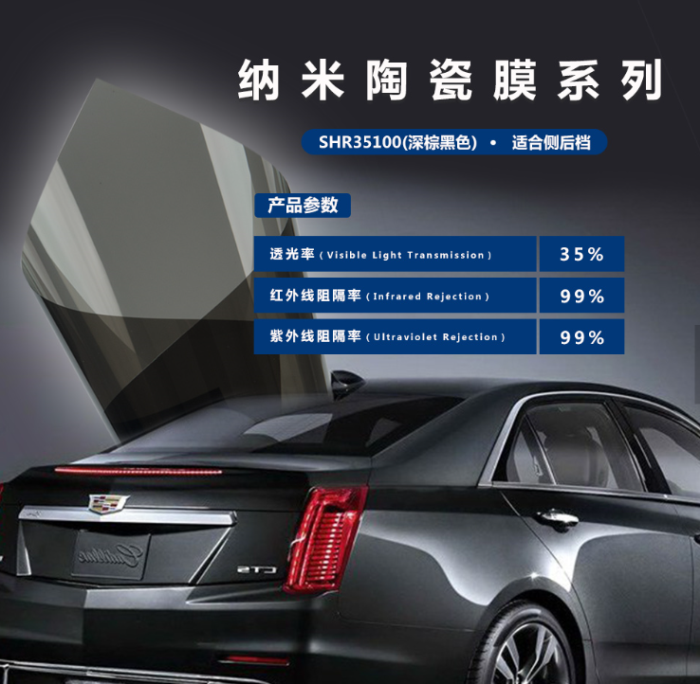 car window film for solar protection