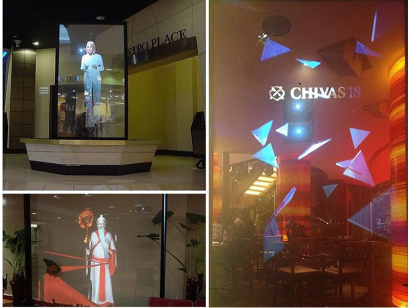 MODU 3D projection film used in office window of Vietnam
