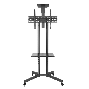 heavy duty mobile TV cart plasma stand with wheels
