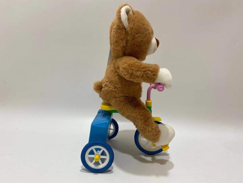Kawaii Plush Bear Riding The Tricyle