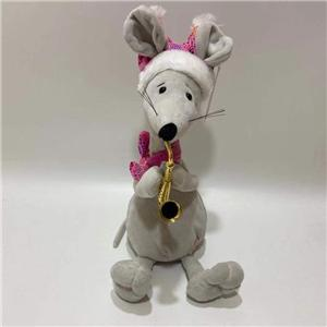 Cute Moving Neck Mouse Toy With Sax