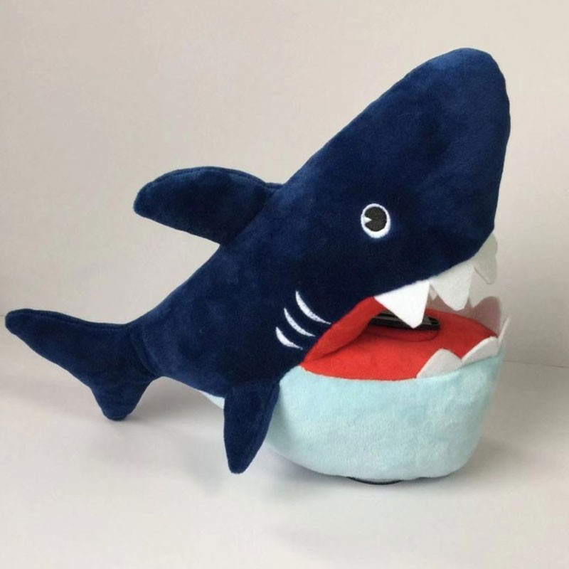 Special Design Plush Shark Shape Piggy Bank