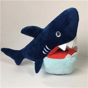 Special Design Plush Shark Shape Piggy Bank
