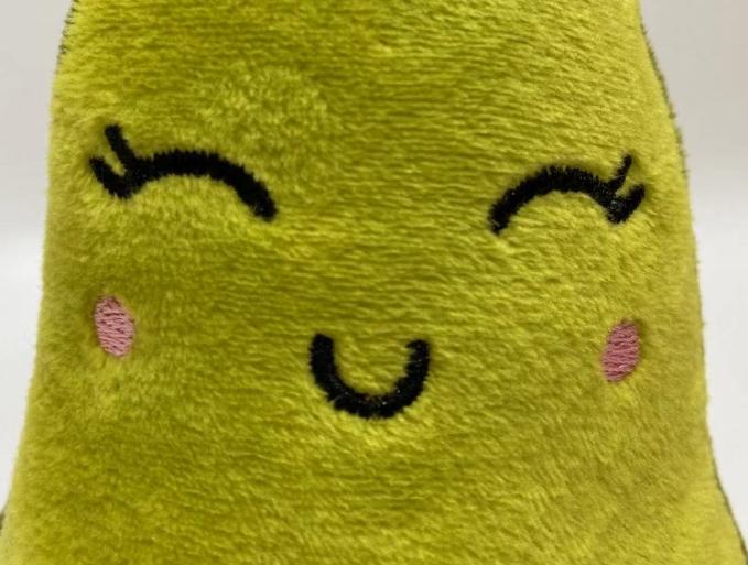 Talking avocado plush toy