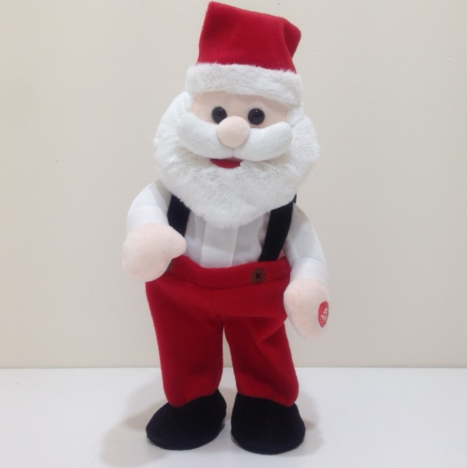 X'mas Plush Singing Santa And Reindeer With Movement