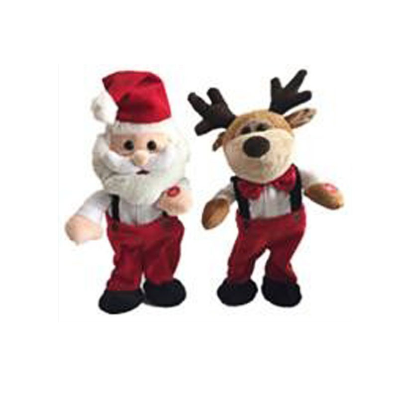 X'mas Plush Singing Santa And Reindeer With Movement Manufacturers, X'mas Plush Singing Santa And Reindeer With Movement Factory, Supply X'mas Plush Singing Santa And Reindeer With Movement