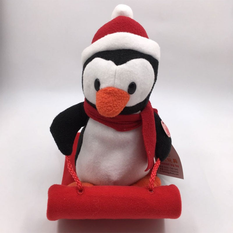 Singing Plush Penguin And Reindeer With Sleigh Manufacturers, Singing Plush Penguin And Reindeer With Sleigh Factory, Supply Singing Plush Penguin And Reindeer With Sleigh