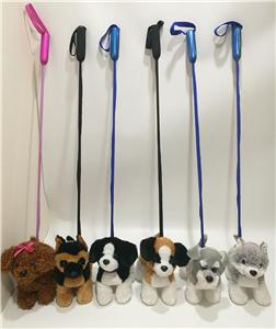 Plush Dog Set With Stick