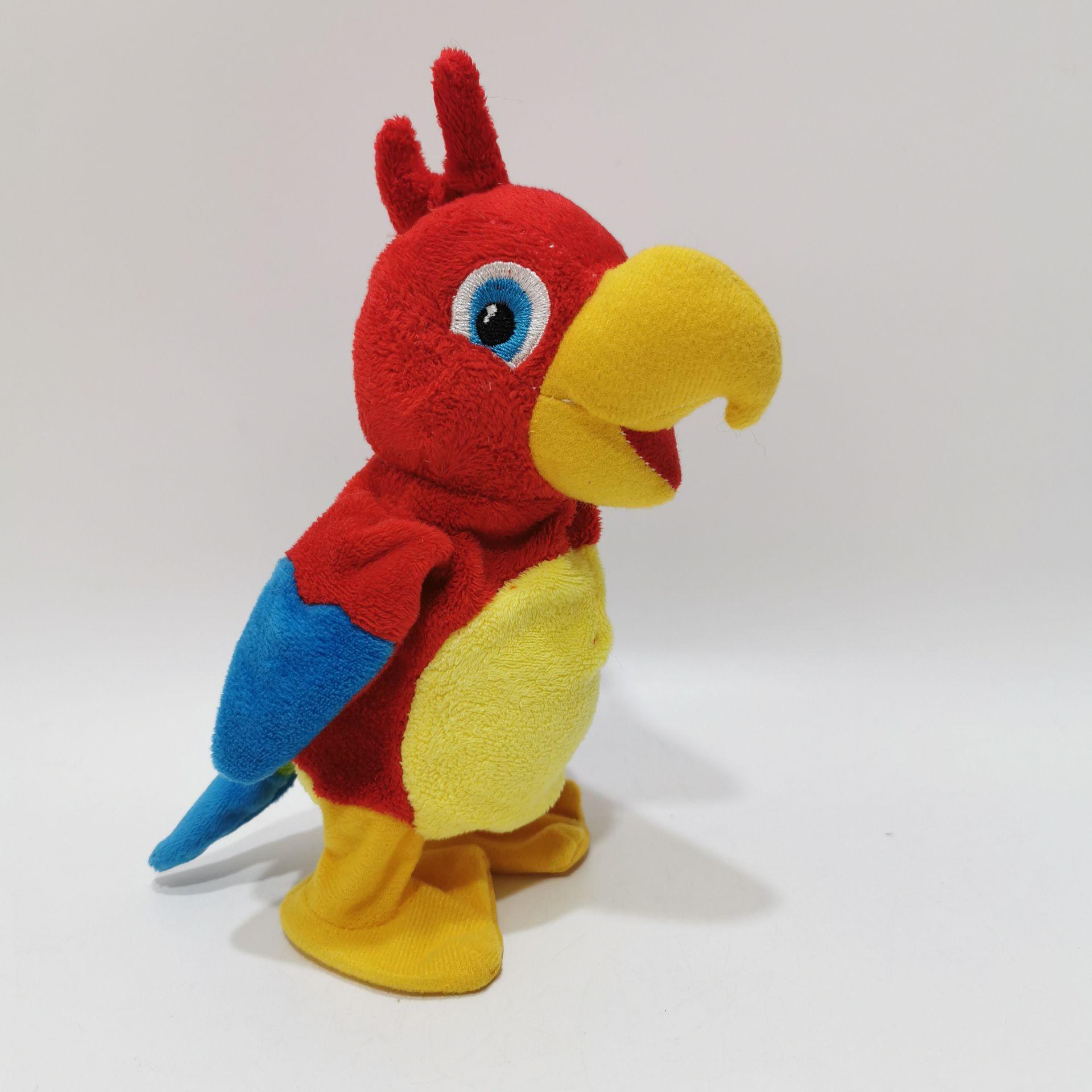 плюшевый говорящий попугай птица игрушка