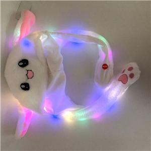 Funny Lighting Hat Cute Rabbit Ears Can Move Cap