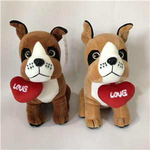 Plush Valentine Gift Adorable Dog