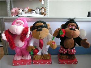 Plush Singing And Dancing Valentines Gift Plush Gorilla