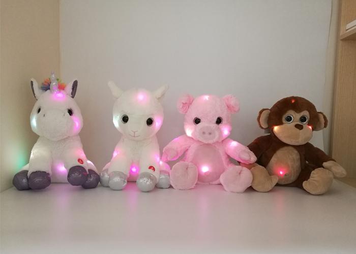 Juguetes con luces LED.