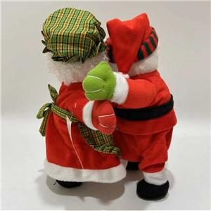 Plush Dancing Santa Couple With Music