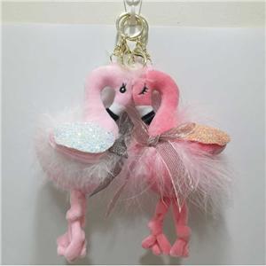 Plush Flamingo Key Chains