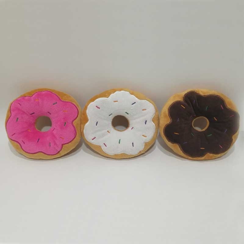 Dogs Toy Cats Toys Doughnut Shape Plush Toy