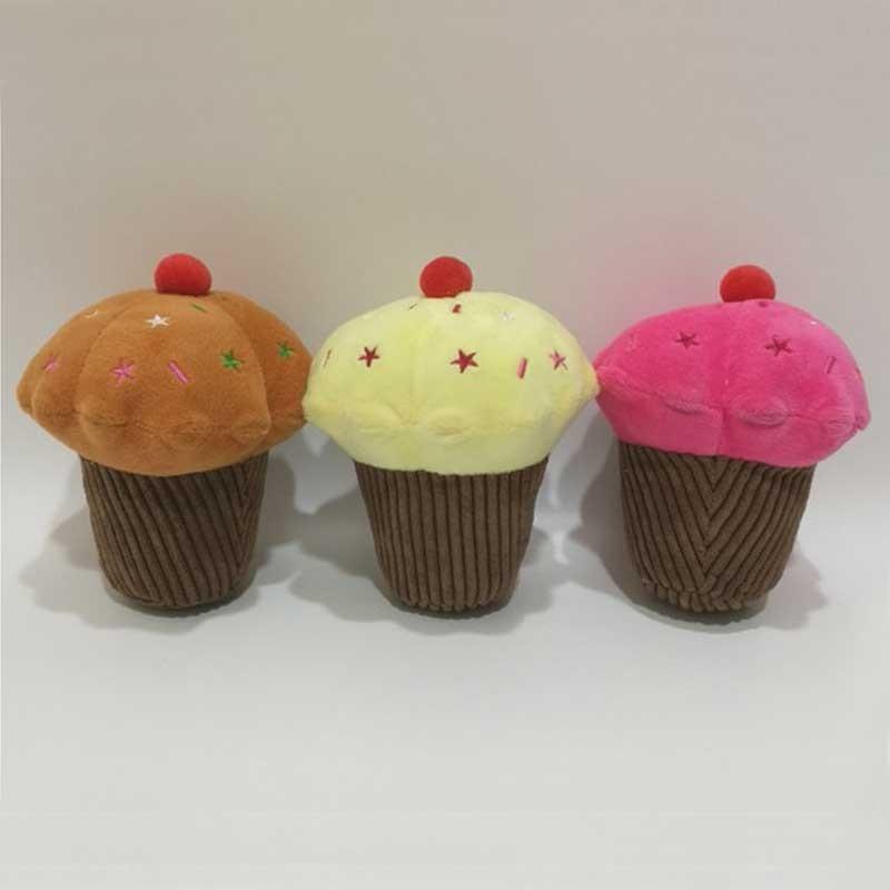Jouets pour animaux de compagnie en forme de petit gâteau