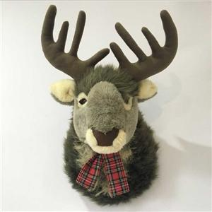 Plush Reindeer Head Hang On The Wall