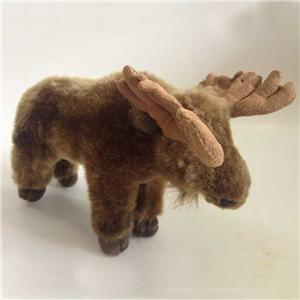 Lifelike Plush Moose Toy