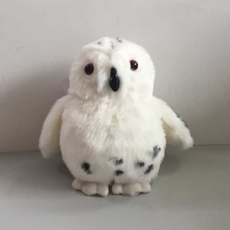 Lifelike Cute Plush White Baby Owl Toy