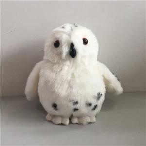 Lifelike Cute Plush White Baby Owl Toy