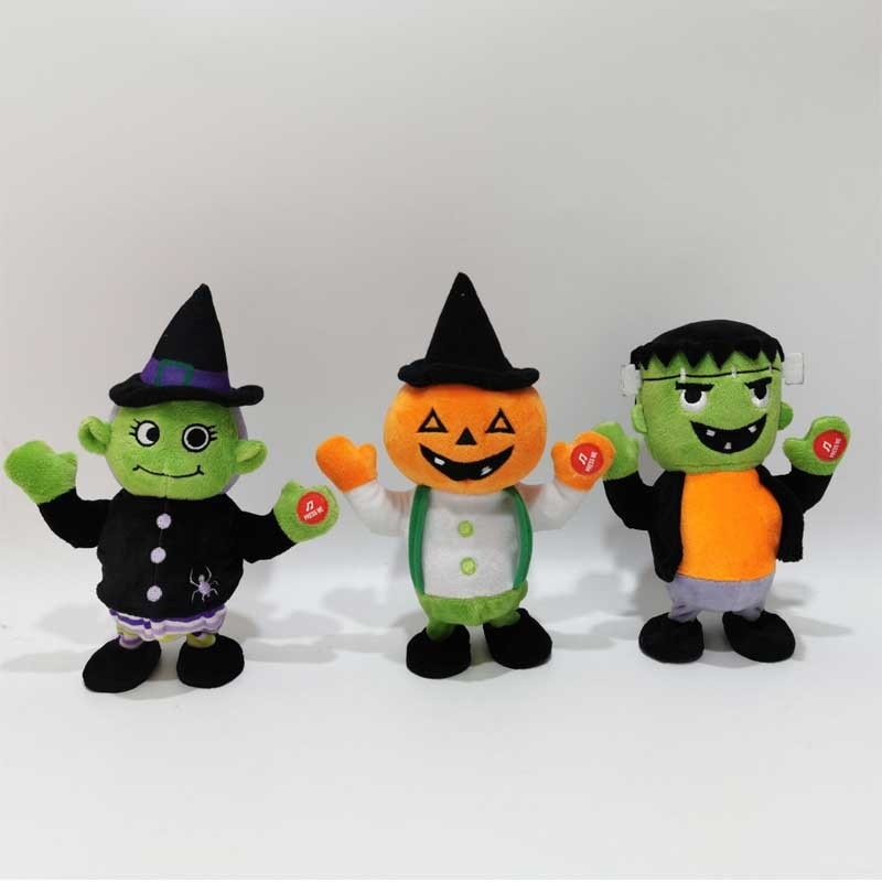 Halloween Toy Talking Witch Pumpkin Frankenstein