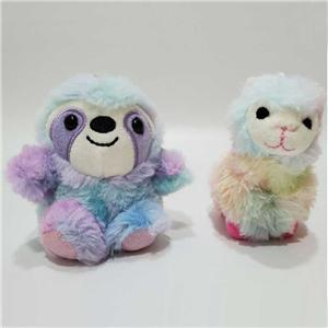 Tie-dye Sloth Llama Plush Keychains