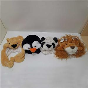 Plush Animal Hat Costumes Penguin Lion Panda Bear Hat