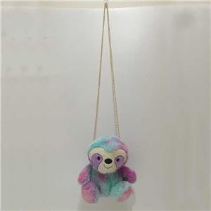 Plush Sloth Tie Die Color Sling Bag