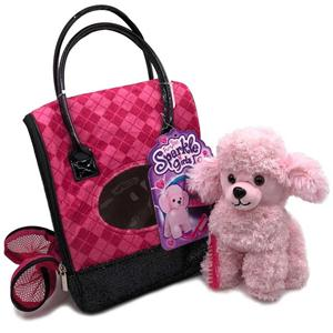 Plush Poodle Dog Toy With Bag