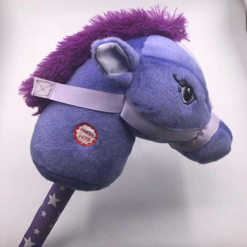 Boy's Plush Gift Stick Horse With Sound