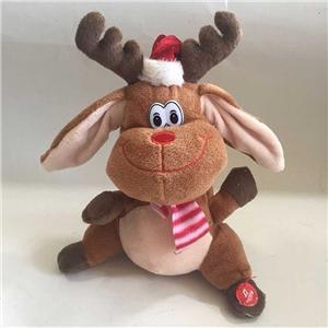 X'mas Plush Reindeer With Shaking Ears