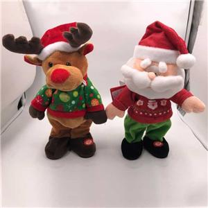Rocking Plush Santa Reindeer With Lights